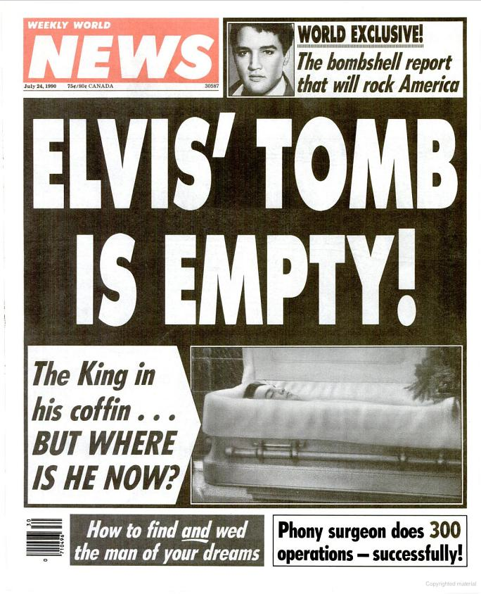Robert Newman » Elvis Is Alive!